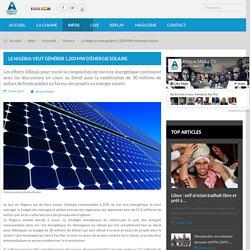 Le Nigeria veut générer 1.200 MW d'énergie solaire