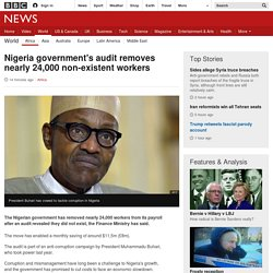 Nigeria government's audit removes nearly 24,000 non-existent workers