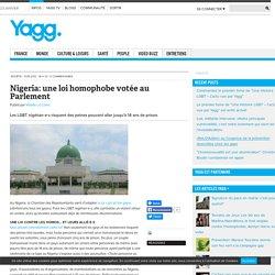 Nigeria: une loi homophobe votée au Parlement