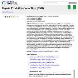 Nigeria Produit National Brut (PNB) - Économie