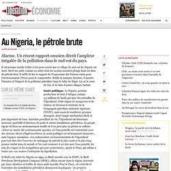 Au Nigeria, le pétrole brute