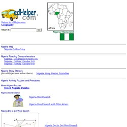 Nigeria Theme Unit - Printables and Worksheets