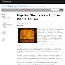 Nigeria: Shell's New Human Rights Abuses