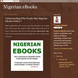 Understanding Why People Buy Nigerian eBooks Online ?