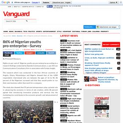 86% of Nigerian youths pro-enterprise—Survey