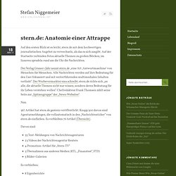 stern.de: Anatomie einer Attrappe
