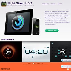 Night Stand HD | The Indispensable Clock for your iPhone and iPad