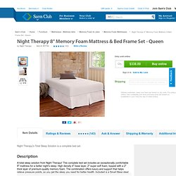 "Sam's Club-8"" Memory Foam Mattress & Bed Frame Set - Queen"