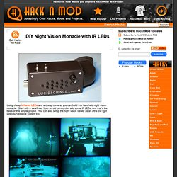 DIY Night Vision Monacle with IR LEDs