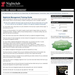 Nightclub Management Training Guide