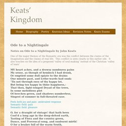 Ode to a Nightingale - John Keats Poetry - Keats' Kingdom