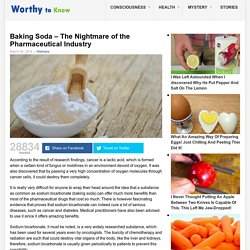 Baking Soda - The Nightmare of the Pharmaceutical Industry