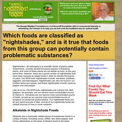 What are nightshades and in which foods are they found?