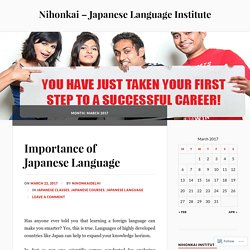 Study Japanese language at Nihonkai and Get Placed in MNC's