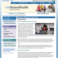 NIHSeniorHealth: Exercise: Benefits of Exercise - Health Benefits
