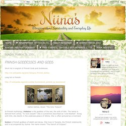 FINNISH GODDESSES AND GODS