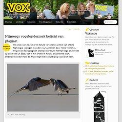 Nijmeegs vogelonderzoek beticht van plagiaat