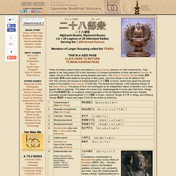 Nijuhachibushu - 28 Legions of 1000-Armed Kannon, plus Raijin & Fujin, Japanese Buddhism Photo Dictionary