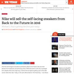 Nike will sell the self-lacing sneakers from Back to the Future in 2016