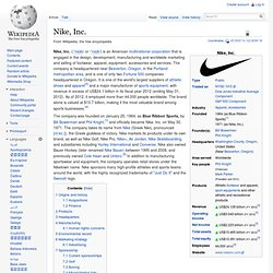 a history of nike corporation an athletic shoe company A pair of nike men's sports shoes nike inc's organizational culture promotes creativity and innovation, highlighting the role of corporate culture in the company's global success.