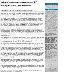 formation/création d'entreprise - Nikkor Lens Information by Thom Hogan
