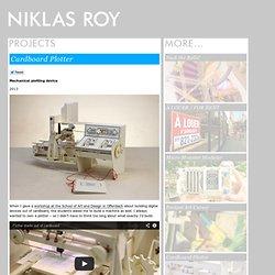 Niklas Roy: Cardboard Plotter