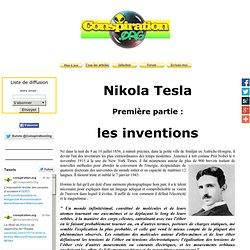 Nikola Tesla, les inventions
