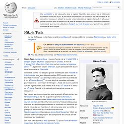Nikola Tesla, énergie libre