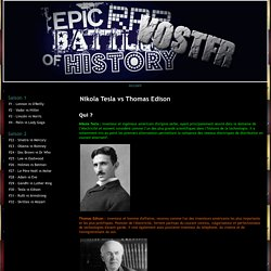 Nikola Tesla vs Thomas Edison - Epic Rap Battles of History - VOSTFR