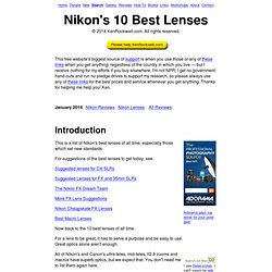 Nikon's 10 Best Lenses