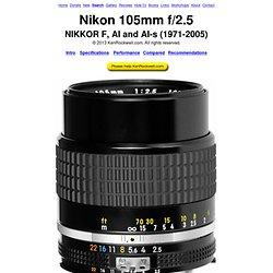 Nikon 105mm f/2.5 Review