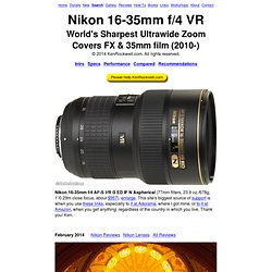 Nikon 16-35mm f/4 VR Review