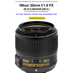 Nikon 35mm f/1.8 G FX Review