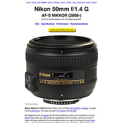 Nikon 50mm f/1.4 G Review
