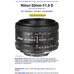 Nikon 50mm f/1.8 D Review