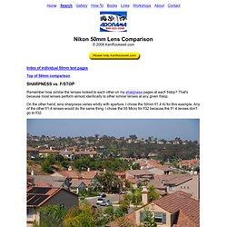 Nikon 50mm Lens Comparison