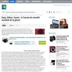 Sony, Nikon, Canon : Comparaison des parts de ventes des appareils photos