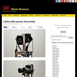 2 Nikon D90 cameras, 3D portraits
