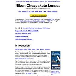 Nikon Cheapskate Lenses