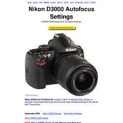 Nikon D3000 Autofocus Settings