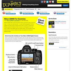 Nikon D3000 For Dummies Cheat Sheet