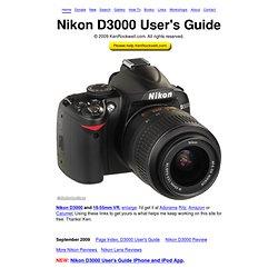 Nikon D3000 User's Guide
