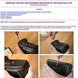 Nikon D70 IR cut filter removal