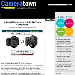 Nikon D7000 vs Canon EOS 7D ISO Noise Comparison