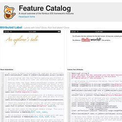 Feature Catalog