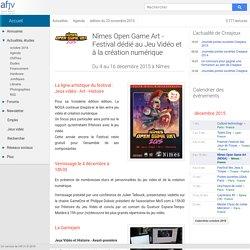 Nîmes Open Game Art - Jeu Vidéo et création numérique