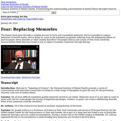 Fear: Replacing Memories