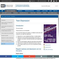 NIMH » Teen Depression