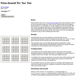 Nine-board Tic Tac Toe