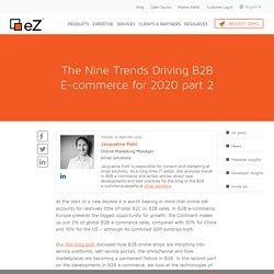 The Nine Trends Driving B2B E-commerce for 2020